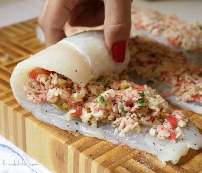 Photo of Crab Stuffed Whitefish  Save Print Prep time 10 mins Cook time 20 mins Total t…