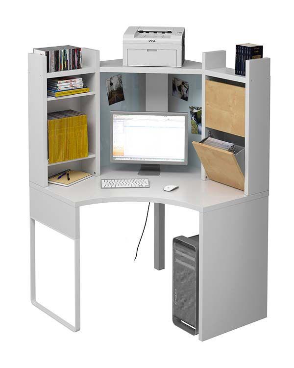 Mundo Diseno Nuevo Estilo Revista De Decoracion Corner Workstation Ikea Corner Desk Home Office Furniture