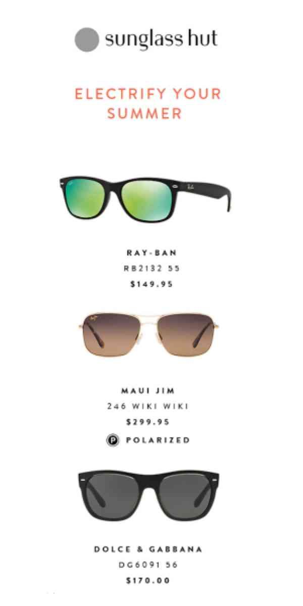 4977ccb785 Sunglass Hut - Up To  50 Off Your Purchase In-Store   Online ...