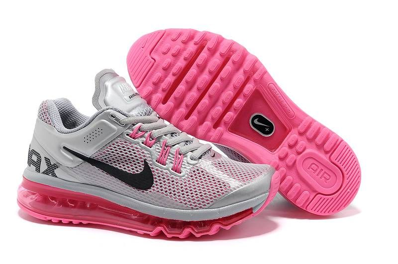 Women's Nike Air Max+ 2013 Grey Pink - Click Image to Close. this site has