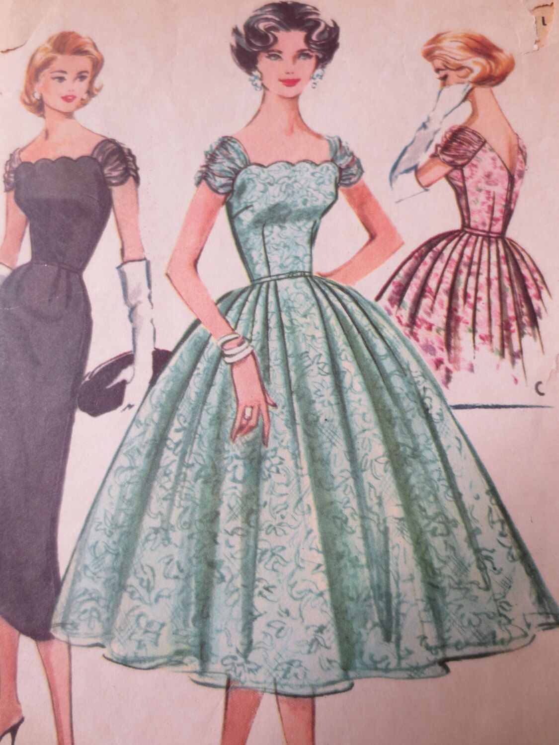 Vintage McCall\'s 4357 Sewing Pattern, Formal Dress Pattern, Bell ...