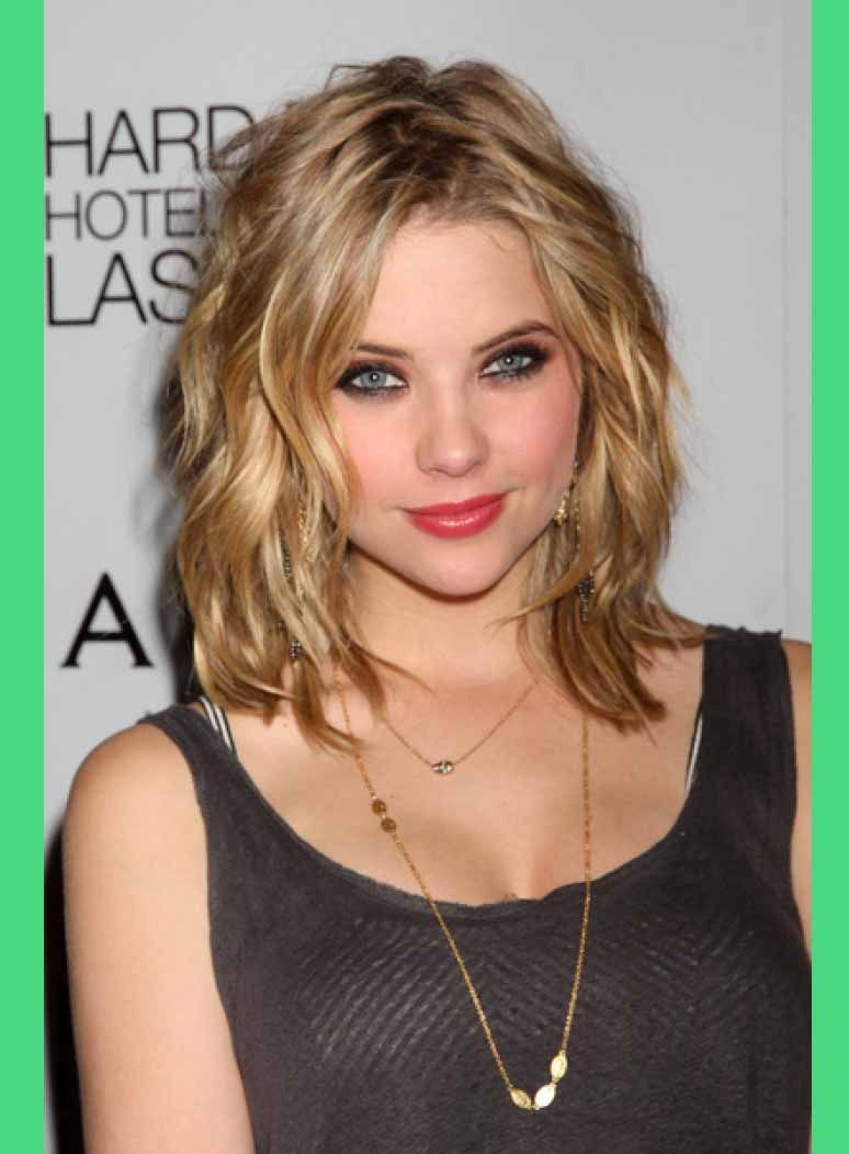 shoulder length haircuts for thin hair and round face | medium
