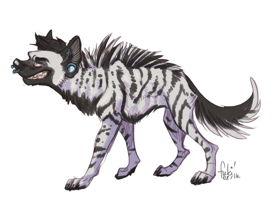 I've found the old drawing of my male fursona: and drew it again. my furry boy is striped heyna now c: