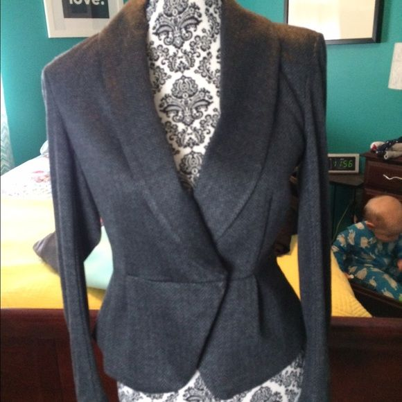 Tweed blazer Gray in color, tags still attached! H&M Jackets & Coats Blazers