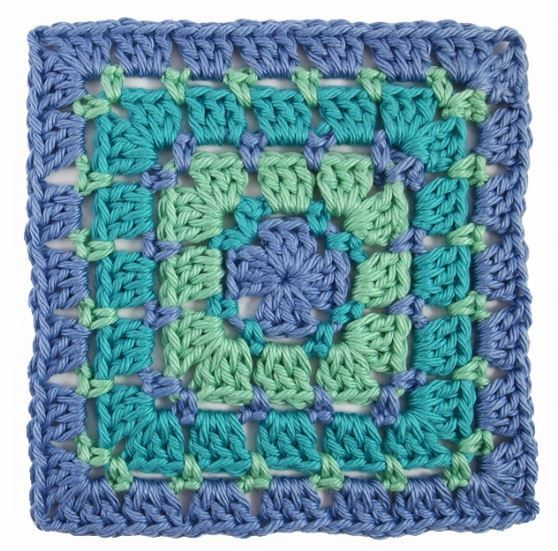 Block Stitch Crochet Granny Square | Häkeln, Handarbeiten und ...