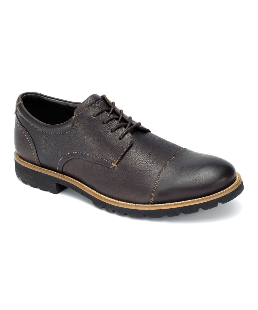 Chocolate brown channer leather oxford men leather