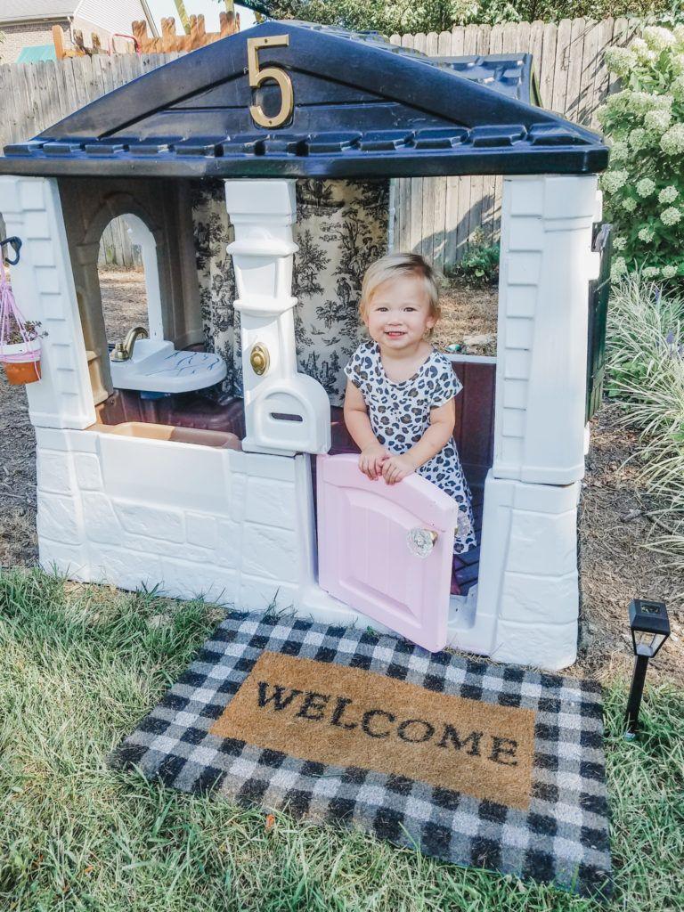 Playhouse Makeover 2 Backyard Kids Play Area Backyard Play Play Houses