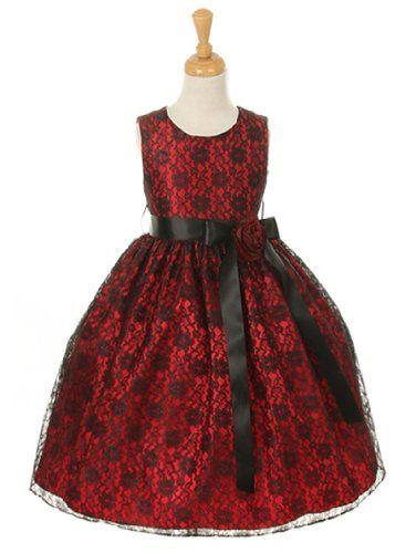 DressForLess Red Elegant Lace Flower Girl Dress with Ribbon Sash, BlackBurgundy, 6, (CC1132RD-BK-BG-6) DressForLess http://www.amazon.com/dp/B00HZWNG4S/ref=cm_sw_r_pi_dp_qGhfub1YCNF1C