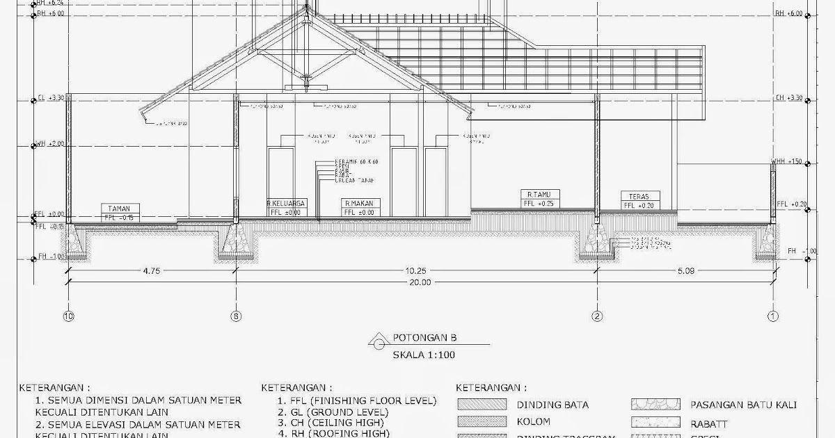 Contoh Gambar Potongan Rumah Minimalis Menggunakan Autocad Komputer Arsitektur Elvina Karina Page 2 Download Gambar Kerja R Rumah Minimalis Rumah Minimalis