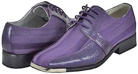 SKU#PRP82 All New Purple Mens Dress Shoes $125 Dress Shoes Two ...