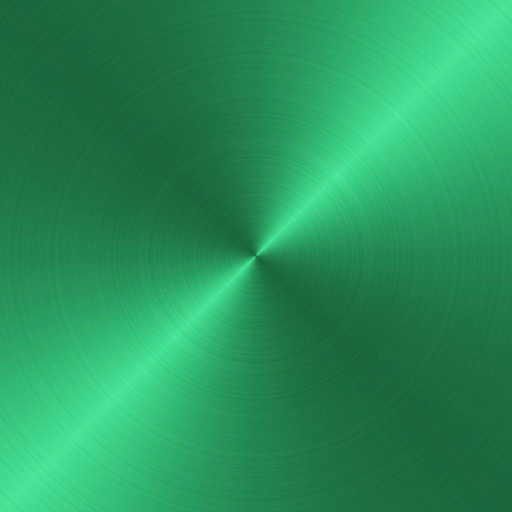 green circular brushed metal texture