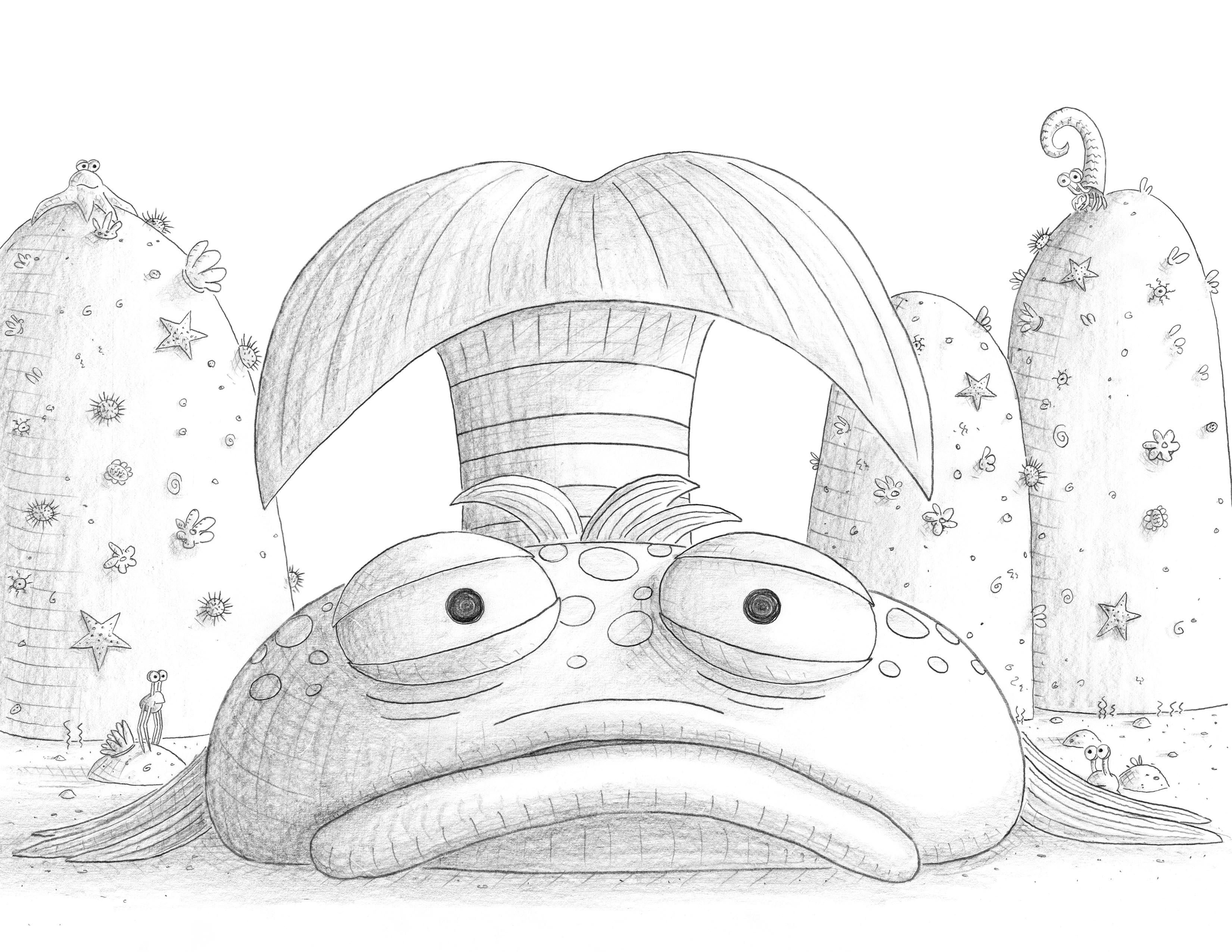 Pin Pout Fish Colouring Pages Page Kamistad Celebrity