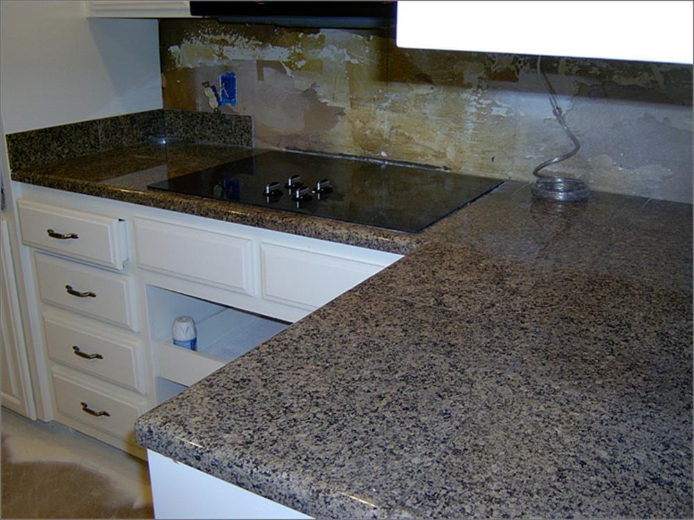 BuildDirect: Granite Countertops Modular Granite Countertops Tan Brown  Inside Corner 45