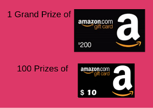 One Lucky Winner Will Win A 200 Amazon Gift Card There Will Be 100 Winners Of 10 Card Each Amazon Gift Cards Amazon Gifts Gift Card