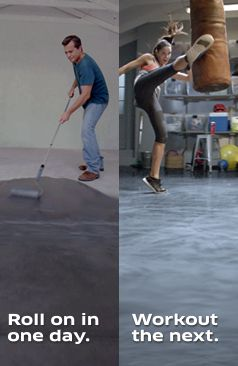 Getting pearlescent, marble garage flooring is easier than you think! These gorgeous floor coatings can be applied in one day, and you can work out on them the next, This stunning, easy-to-install metallic kit is perfect for your home gym!