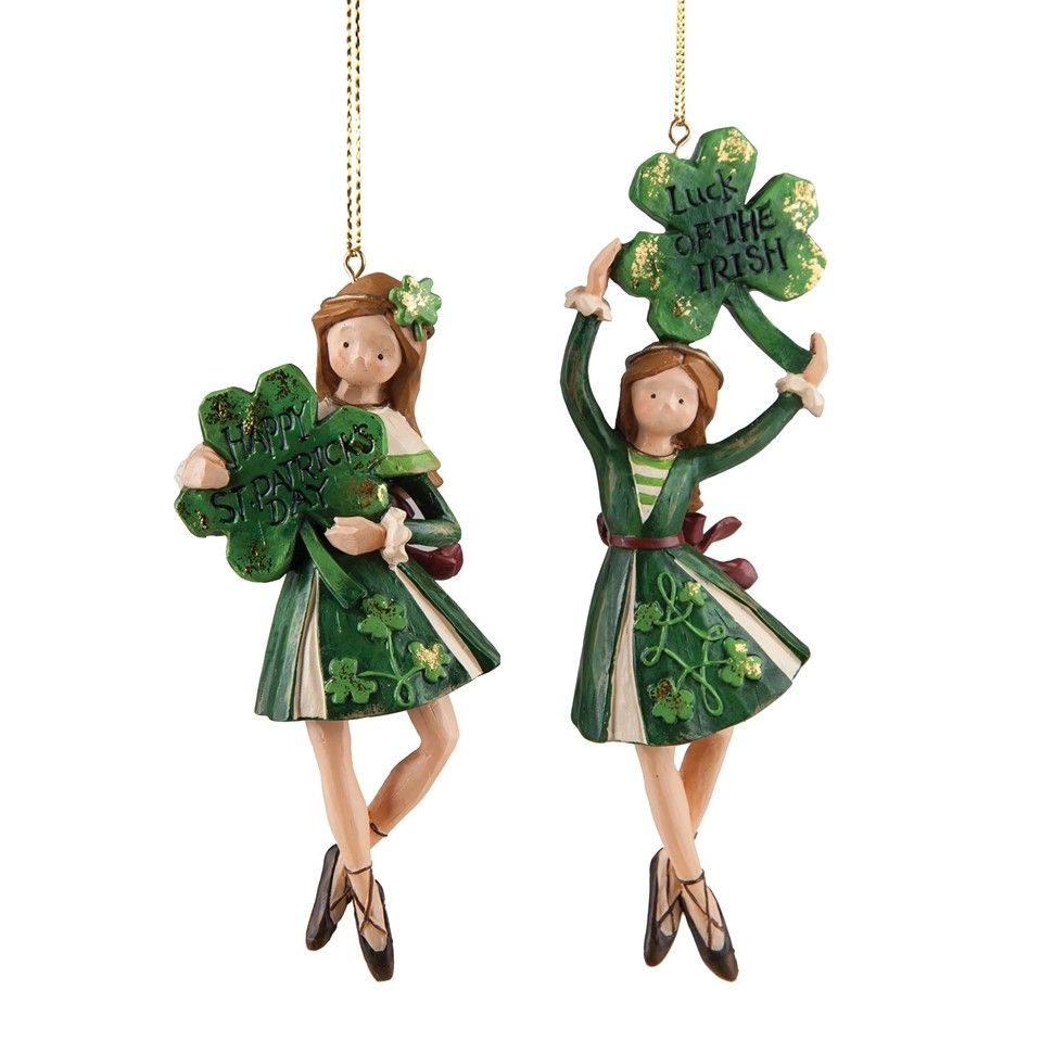 Irish Dancers Ornament Set in 2020   Irish christmas ...