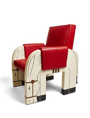 Children s chair from the first class playroom on Normandie Designed by  Marc Simon and