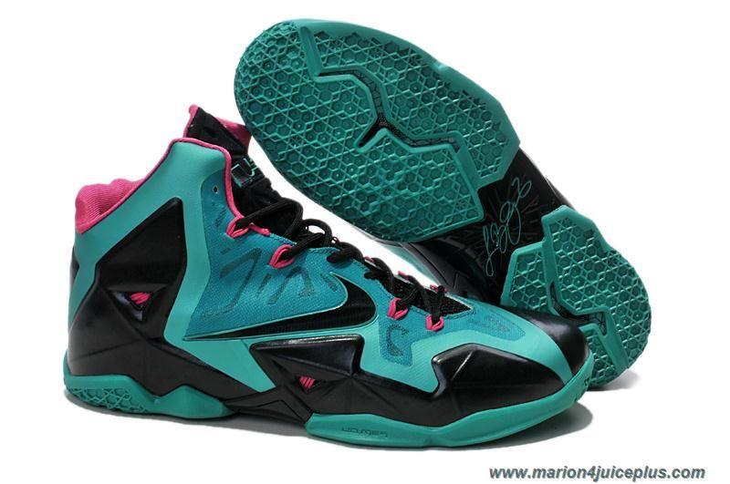 3cffec8cb4e New 616175 255 Nike Lebron XI Turquoise Volt