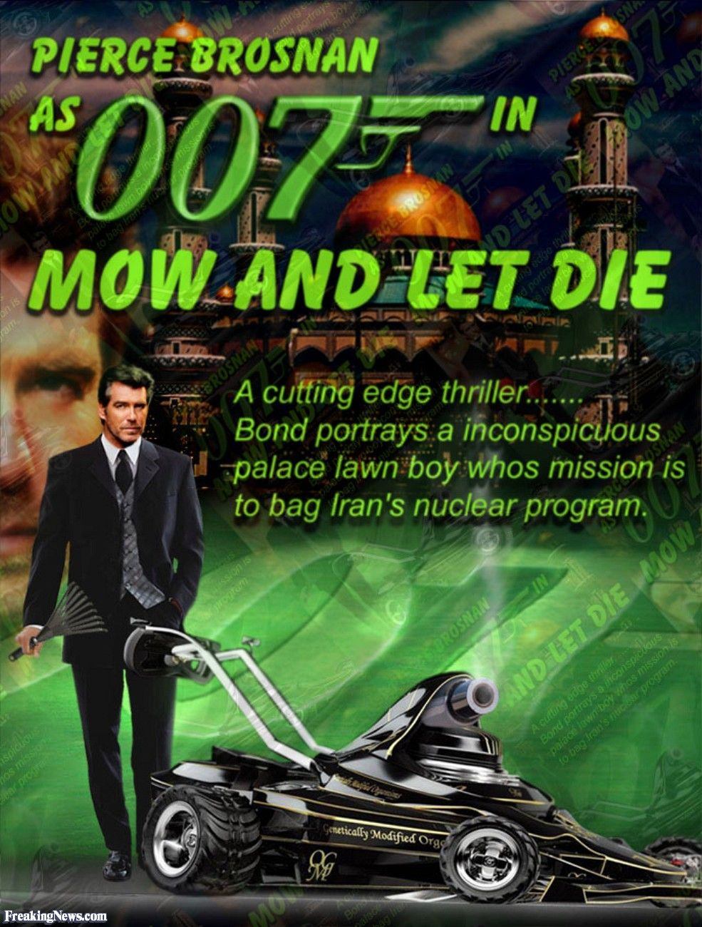 James Bond and His Lawnmower
