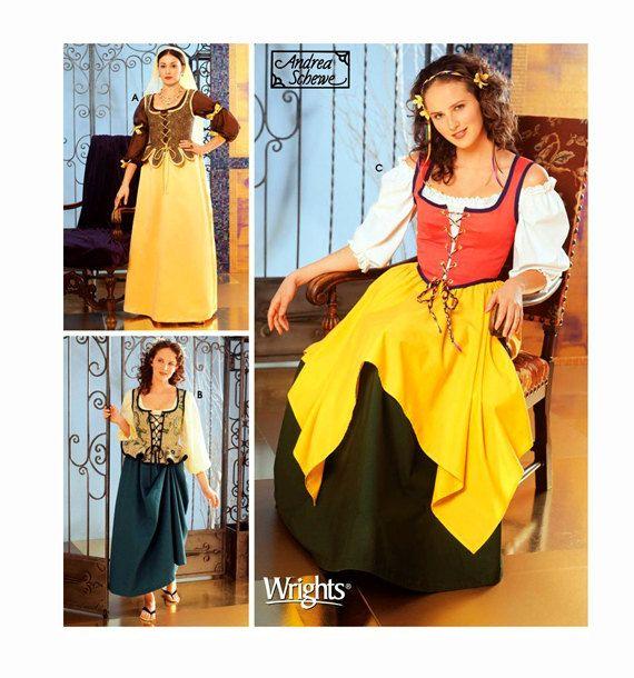 DIRNDL DRESS PATTERN German Bavarian Blouse Apron Skirt Vest
