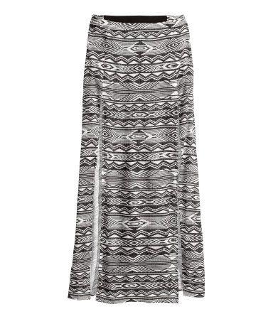 #falda #larga #elastica #estampada #abierta @H&M 17,95€