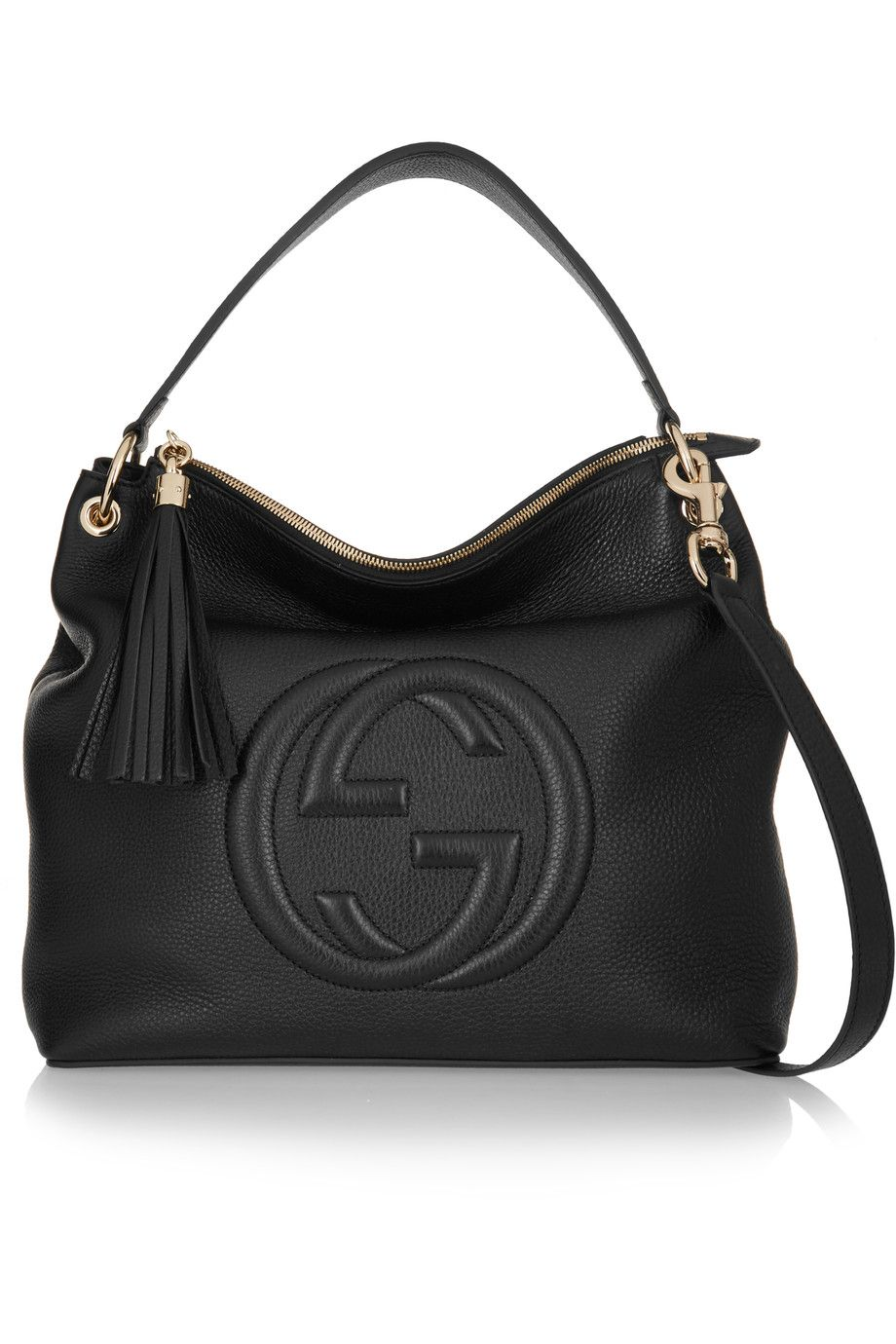 ed72b6681f0 GUCCI Soho Hobo textured-leather shoulder bag €1