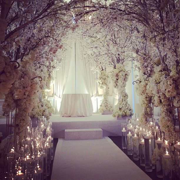 White Cherry Blossom #wedding #ceremony