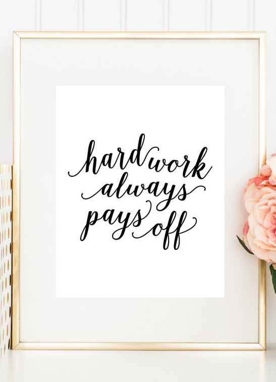 Hard Work Pays Off Quotes 60 Wedding Finds From Etsy Artists We Love  Pinterest  Hard Work