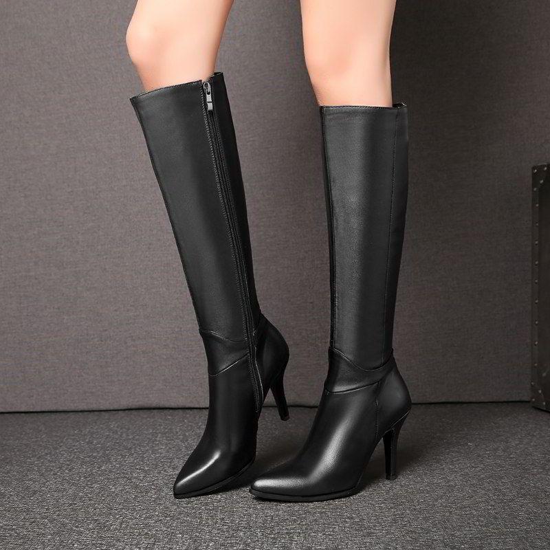 Модні жіночі чоботи на шпильці і тонкому каблуці осінь-зима 2018 2019 f484553d9dd6e