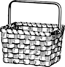 Image Result For Basket Clipart Clip Art Clipart Black And White Coloring Pages