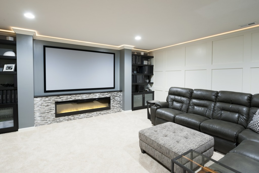 Basement Made for Entertaining