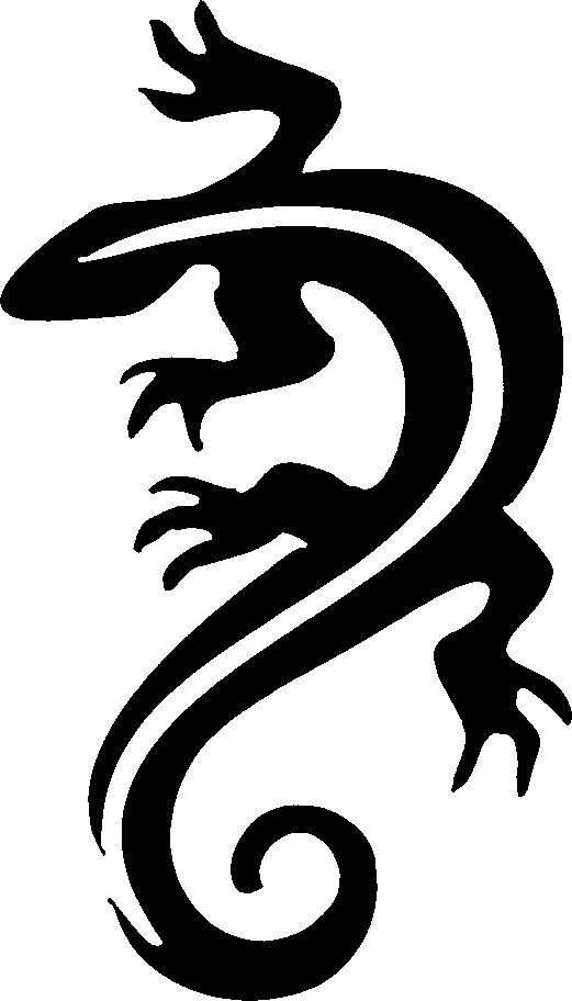 Lizard Stencil - Cliparts.co