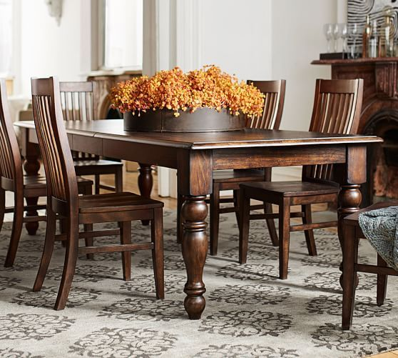 Evelyn Extending Dining Table 84 X 30 Rustic Brown Finish