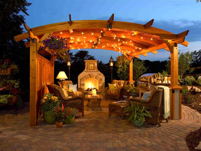 Outside Room Design Ideas Part - 36: Outdoor Patio Ideas With Fire Pit And Pergola | Pergolas For Outdoor Rooms  Eagan MN|
