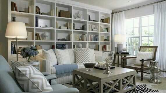 Perfect Living Room For A Small Cottage. I Would Like The Bookshelves To Be  Wall