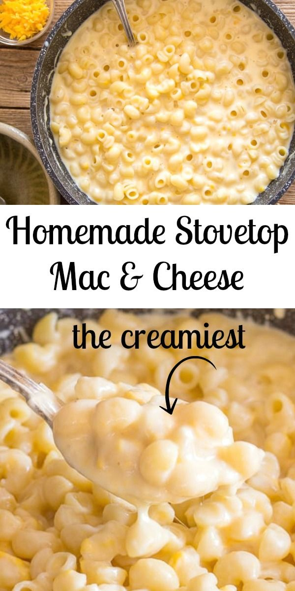 Homemade Stovetop Mac & Cheese #macandcheeserecipe