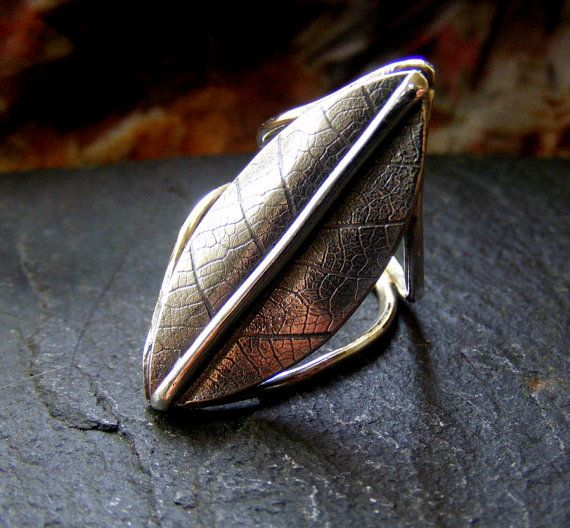 Hey, I found this really awesome Etsy listing at https://www.etsy.com/listing/233298282/silver-leaf-textured-ring-sterling