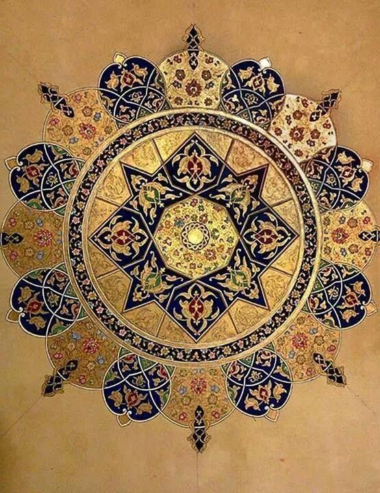 Islamic Art | Blue gold, Tibetan art and Mandalas