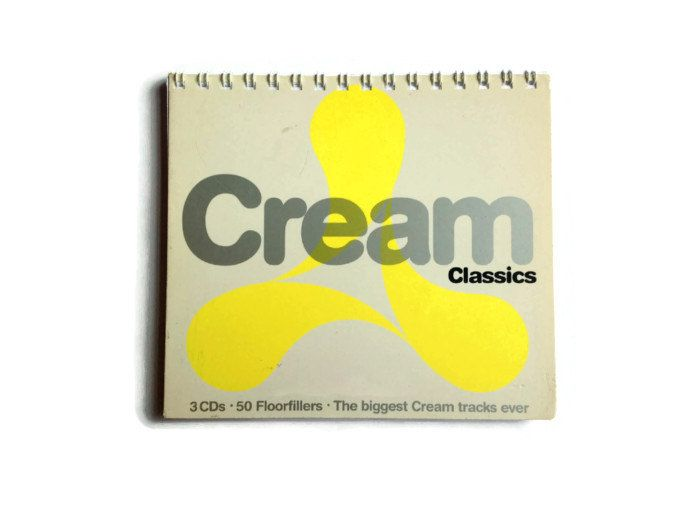 Cream Classic note book Reworked CD Box Free UK Postage 70 plain white pages great gift dance music fan - pinned by pin4etsy.com