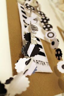 paper garland out of recycled Marimekko papers