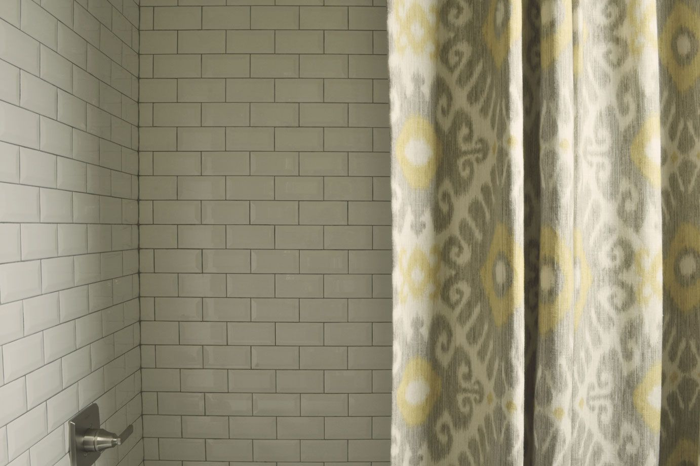 Home interior design accessories custom made shower curtain with subway tile shower robinus nest