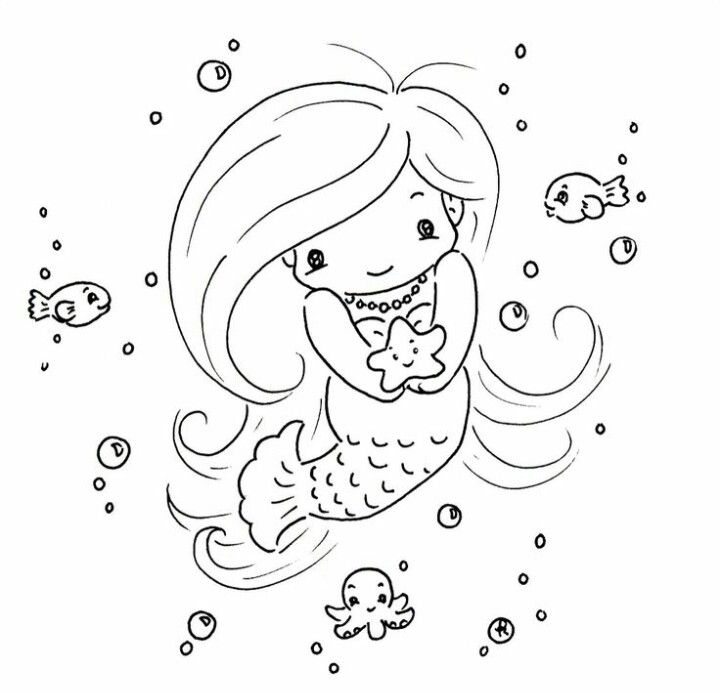 Mermaid | Mermaid coloring pages, Mermaid coloring ...