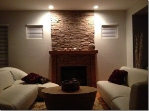 Adding A Faux Stone Panel Above Fireplace