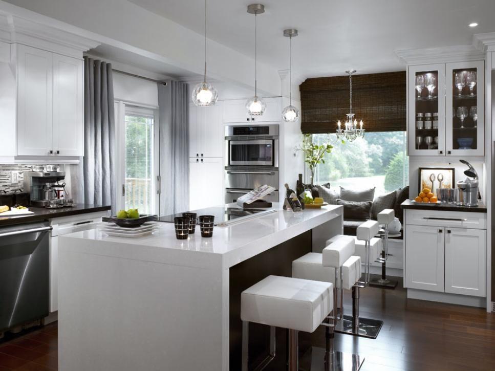 White Kitchen Decorating Ideas From  Hgtv Magazine And Hgtv Magnificent Designer Kitchen Curtains 2018