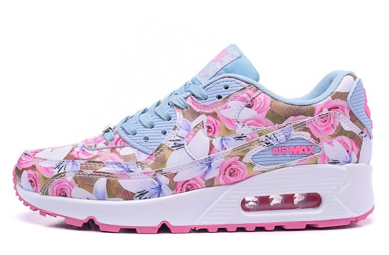 61af86acf8 2016 Nike Air Max 90 Paris City Rose Womens Flower Running Shoes Fashion  Valentine'S Day Floral