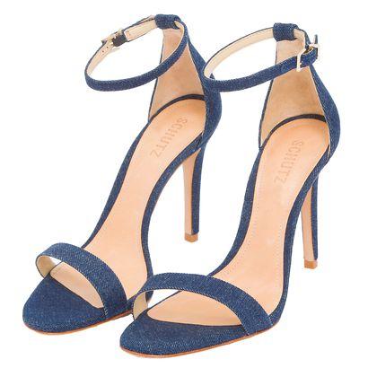 SCHUTZ Sandália Schutz jeans azul OQVestir | Sapatos