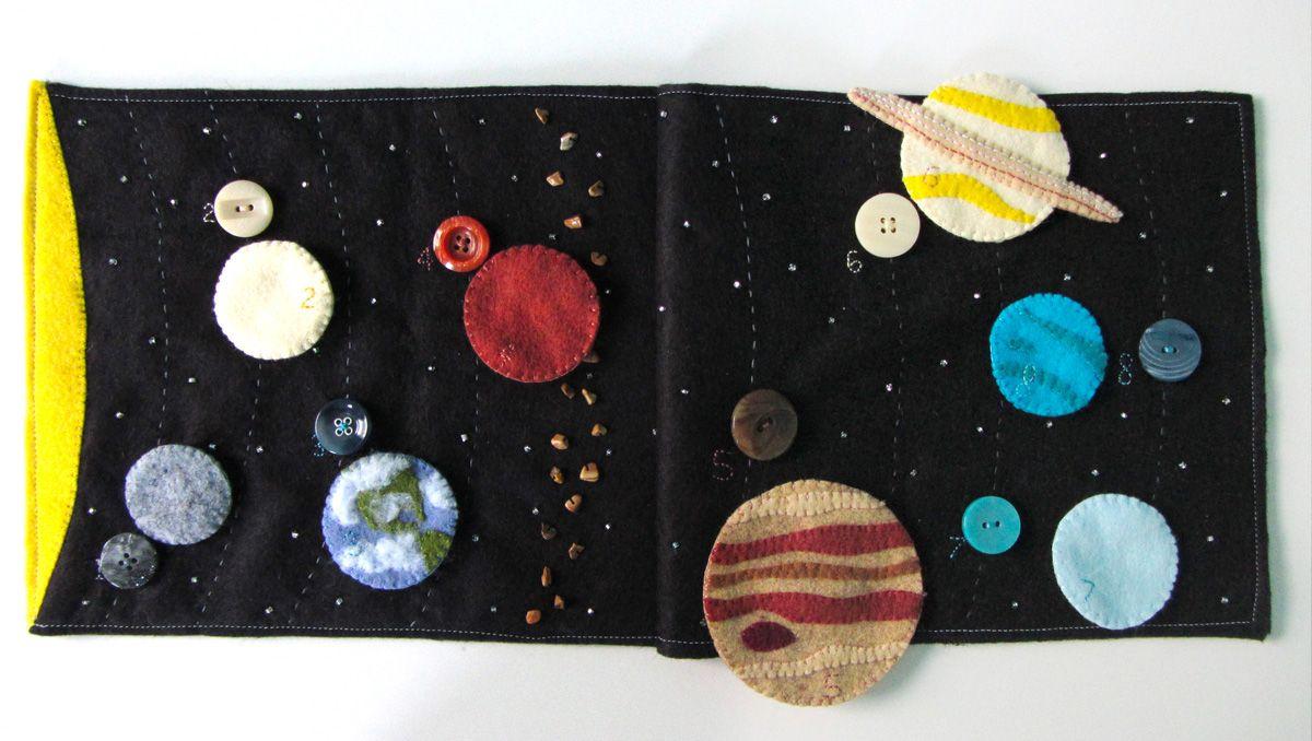 Solar System Quiet Book Page Felt Quiet Books Quiet Book Diy
