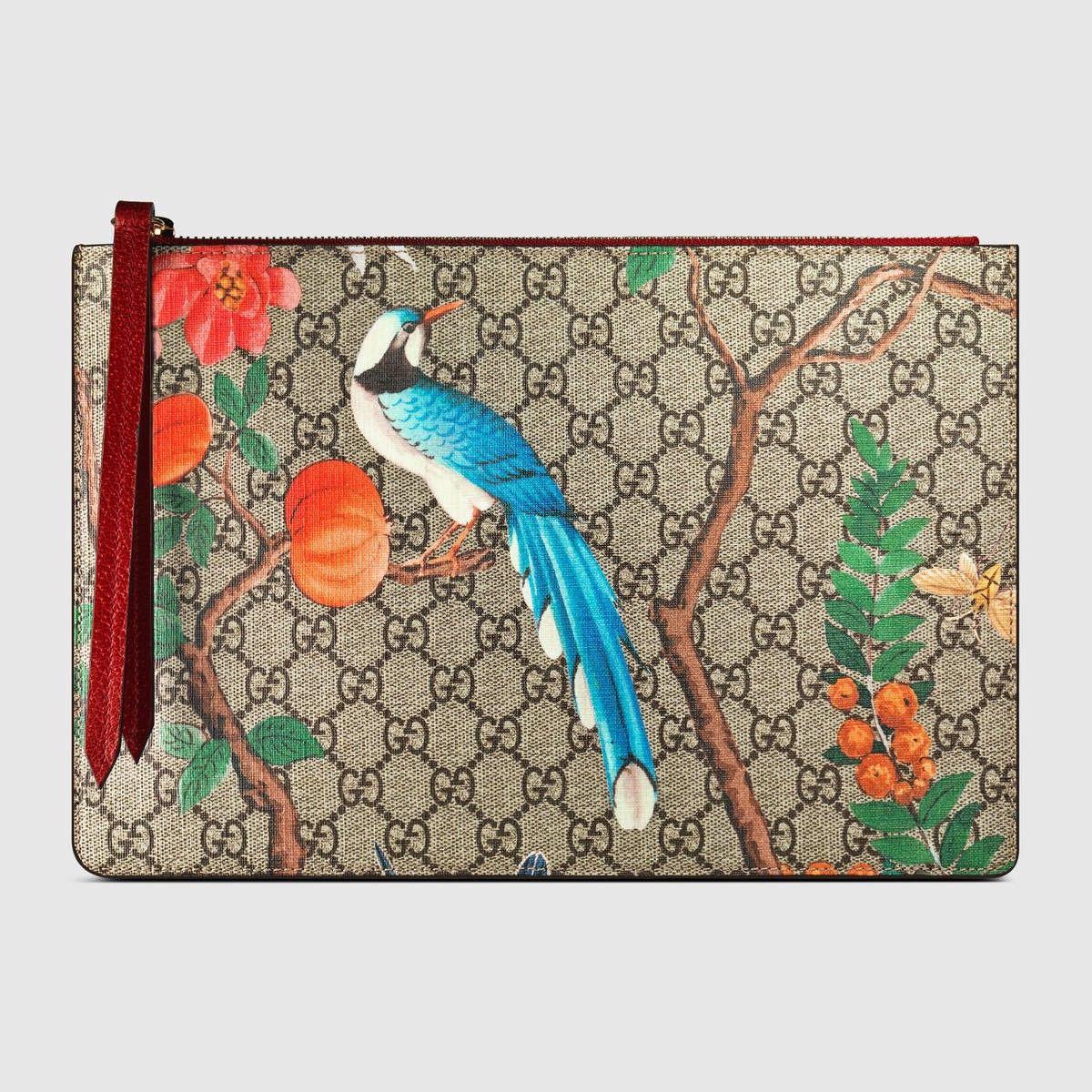 f48266f83d0 GUCCI Gucci Tian Gg Supreme Zip Pouch - Gg Supreme Tian.  gucci  all ...