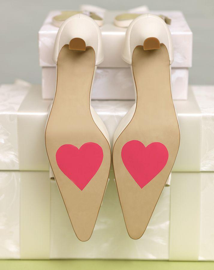 Herzaufkleber für ihre Schuhe