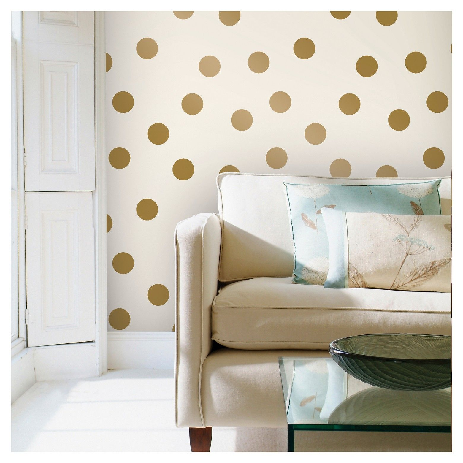 Devine Color Dots Peel Stick Wallpaper Gold White College Wall Decor Peel And Stick Wallpaper Turn Table Vinyl